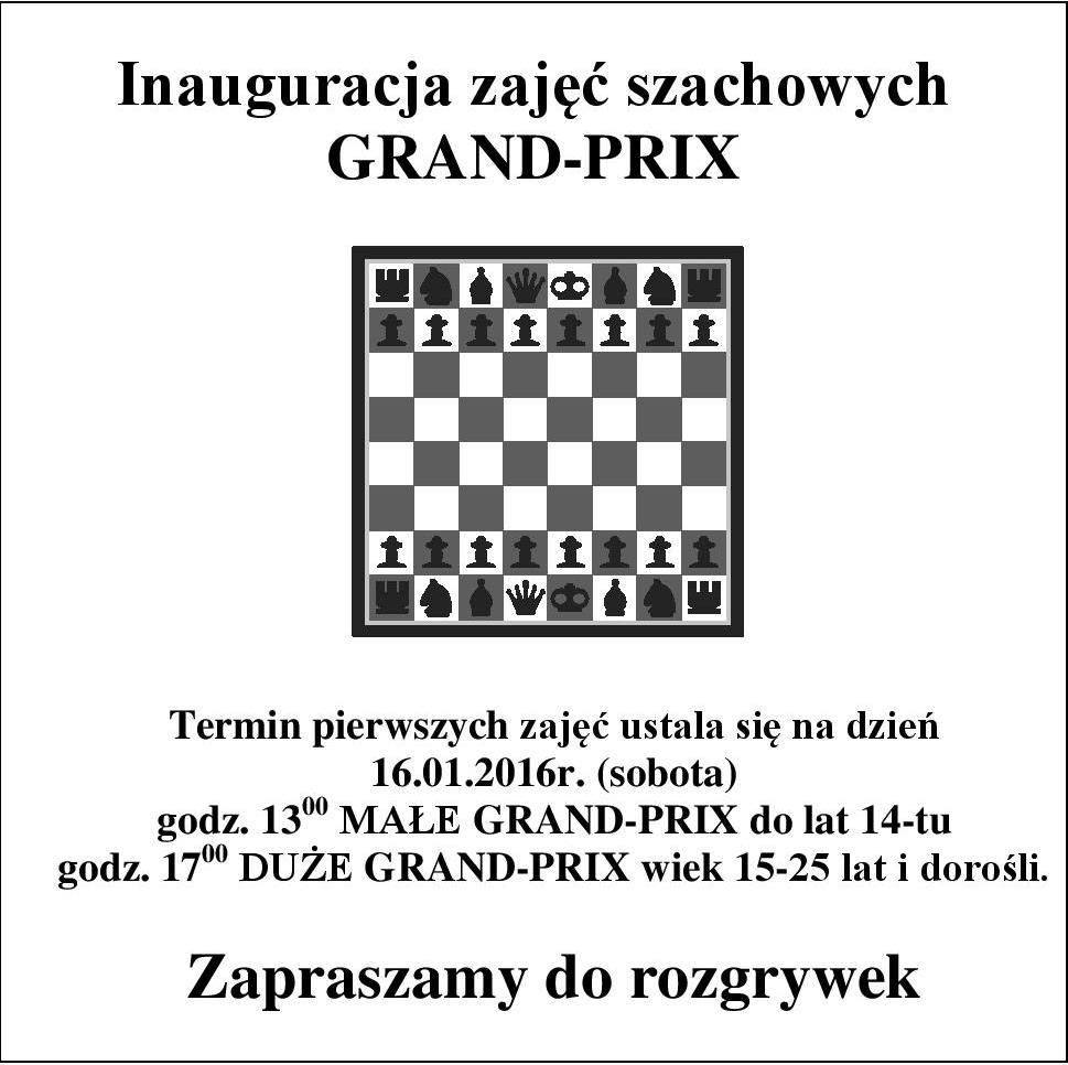 Rozpoczęcie zajęć szachowych